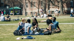 Students on the green